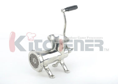 "Çin Stainless Steel Manual Meat Grinder With Countertop Bolt Down And Fine 3 / 16"" Plates Fabrika"