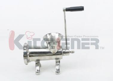 Çin Stainless Steel Manual Meat Grinder Sausage Stuffer and Tubes for Pork Beef Deer Fabrika